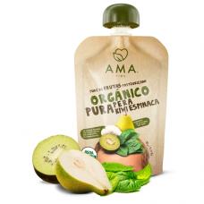 Nuevo Puré Pera, Kiwi y Espinaca Orgánico 90grs|Ama_Time