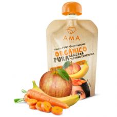 Nuevo Puré Manzana, Plátano y Zanahoria Orgánico 90grs|Ama_Time
