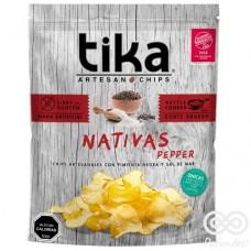 Nativa Pepper Chips Artesanales con Pimienta Negra y Sal de Mar 180grs| Tika