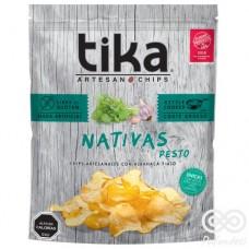 Nativa Pesto Chips Artesanales con Albahaca y Ajo 180grs| Tika