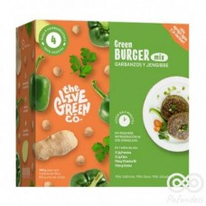 Green Burger Mix Garbanzos y Jengibre 200grs |The Live Green Co