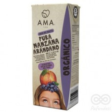 Jugo Manzana Arándano Orgánico 200ml Tetrapack|Ama_Time