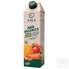 Jugo Orgánico Naranja, Manzana, Zanahoria 1000ml Tetrapack|Ama_Time