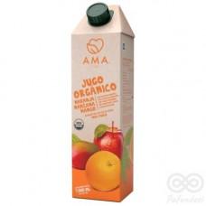 Jugo Orgánico Naranja, Manzana, Mango 1000ml Tetrapack|Ama_Time
