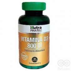 Vitamina D3 800UI 60 comprimidos | Nutrapharm