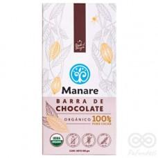 Chocolate Orgánico 100% Cacao Libre de Gluten y Sin Lactosa 100g | Manare
