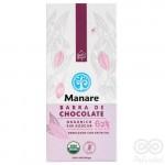 Chocolate Orgánico 62% Cacao Sin Azúcar 100g | Manare