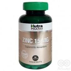 Zinc 15mg 60 comprimidos | Nutrapharm