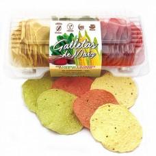 Galletas de Maíz Redondas con Betarraga y Espinaca 30 unidades|Saniito