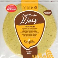 Tortilla de Maíz para Fajitas - 17 cms (8 unidades) | Saniito
