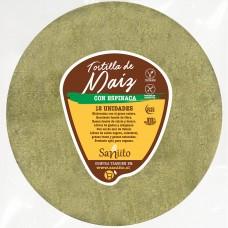 Tortilla de Maíz Grande para Fajitas con Espinaca- 17 cms (12 unidades) | Saniito