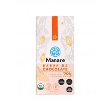Chocolate Orgánico 70% Cacao Libre de Gluten y Sin Lactosa 100g | Manare