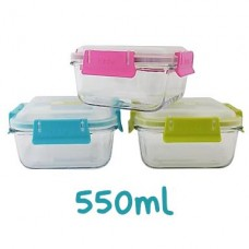 Contenedor hermético cuadrado de vidrio 550ml (1un) | Keep
