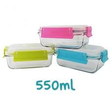 Contenedor hermético rectangular de vidrio 550ml (1un) | Keep