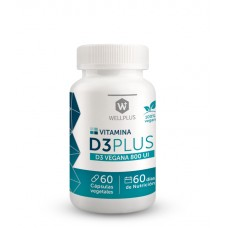 Vitamina D3 Plus 100% Vegano 60cap | Wellplus