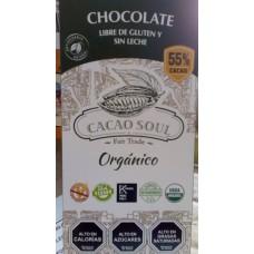 Chocolate Orgánico 55% Libre de Gluten y Sin Lactosa