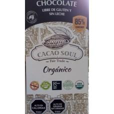 Chocolate Orgánico 85% Libre de Gluten y Sin Lactosa 100grs|Cacao Soul