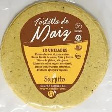 Tortilla de Maíz Grande para Fajitas - 17 cms (12 unidades) Saniito
