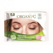 Toalla Humectante Limpieza Facial Natural 20 unidades Organyc