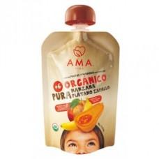 AMA Puré Manzana Plátano Zapallo Orgánico 90g