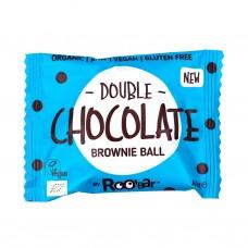 Brownie Orgánico de Chocolate Doble Vegano 40grs. Roobar (DOUBLE CHOCOLATE ORGANIC BROWNIE )