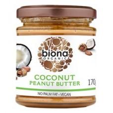 Mantequilla de Maní y Coco Orgánica 170grs. Biona (COCONUT PEANUT BUTTER ORGANIC)