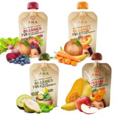 Pack 8 AMA Purés de Frutas Orgánicas (Valor x Unidad 580)|Ama_Time