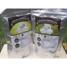 Pack Keto Cobertura y Chips 85% Sin Azúcar Libre de Gluten y Sin Leche 500g | Cacao Soul
