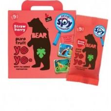 Multipack Rollos de Pura Frutas Bear Yoyos Strawberry 20grs X 5