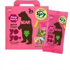 Multipack Rollos de Pura Frutas Bear Yoyos Raspberry 20grs X 5